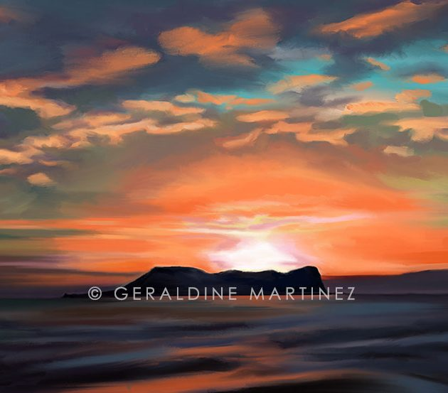 geraldine-martinez-orange-sunset-gibraltar