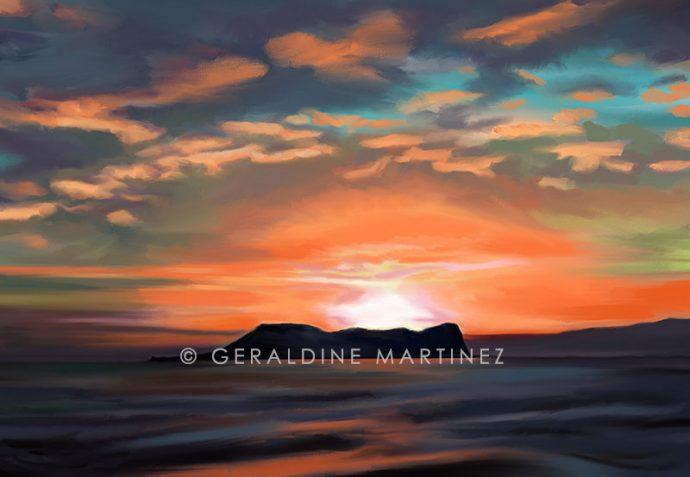 geraldine-martinez-orange-sunset-gibraltar
