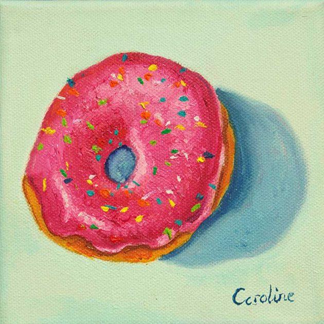 caroline-canessa-Iced-Donut-pink-sprinkle